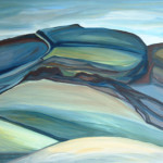 Artist: Natalie Findlay, Title: Northland Landscape, Media: Oil on board, Size: 84 x 59