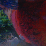 Artist: Joan Lindsay, Title: Pool (1976), Media: Acrylic on board, Size: 66 x 66 cm