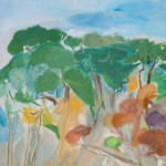 Artist: Thyrza Bindon, Title: Coastal Bush, Media: Oil on board, Size: 83 x 51 cm