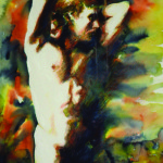 Artist: Cecilia Russell, Title: Cronus (1998), Media: Watercolour/aquarelle, Size: 76 x 58