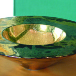 Artist: Carrol Swann, Title: Emperor's Bowl (1993), Media: Gold & platinum glazed bowl