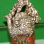 Artist: Ikeda Yoshaka, Title: Teapot #2 (1999), Media: Handbuilt Ceramic pottery