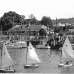 Reyburn House 1945; Regatta Day, Town Basin. The house has been out of the Reyburn family hands for over 30 years now and is looking rundown.